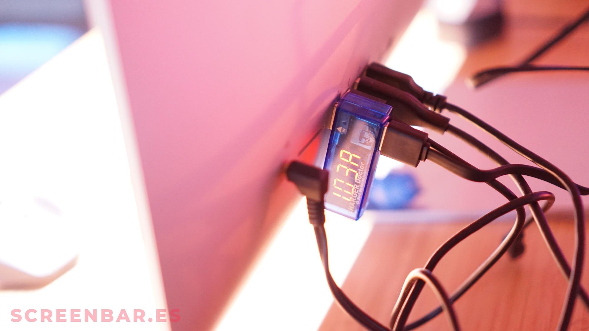 Corriente por USB de la screenbar xiaomi